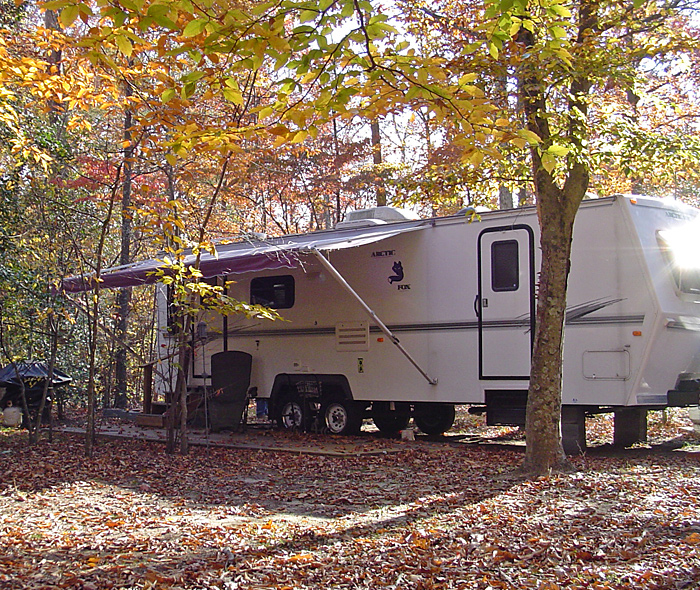 Fall season camping at Holiday Park Campground