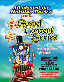 Holiday Park Campground 2018 Gospel Concert Schedule