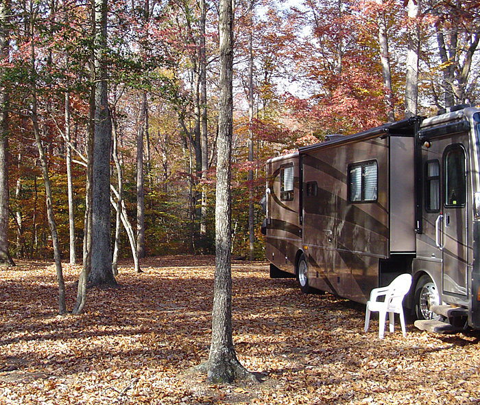 Spacious campsite at Holiday Park Campground