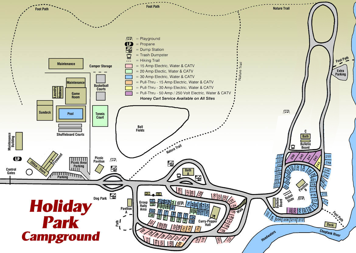Holiday Park Site Map